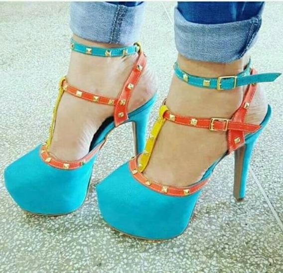 Sapatos Femininos Sandálias Fashion Com Spikes