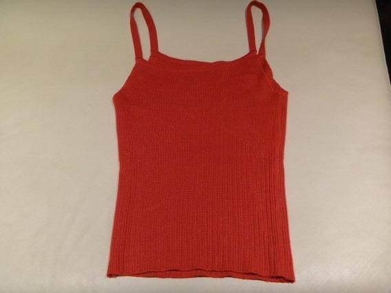 Musculosa Top De Hilo Rojo Con Cuerpo Diseño Noche (quilmes)