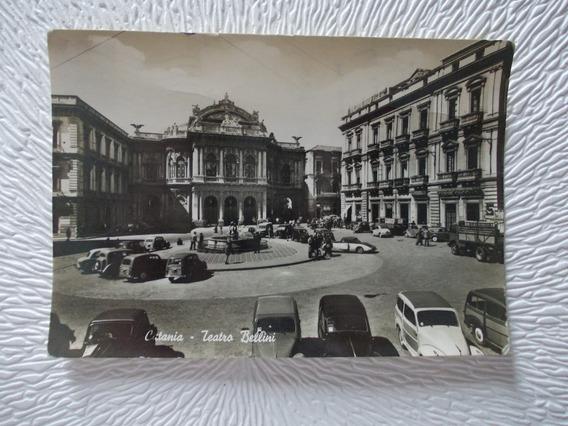 2800-postal Catania Itali Estampilla 1955 Ed S Vitro50471