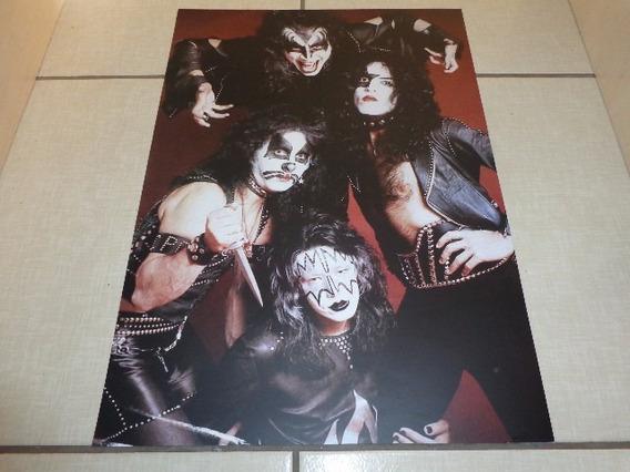 Kiss - Poster - 42 Cm X 59 Cm - Primeiro Lp Era - Nacional
