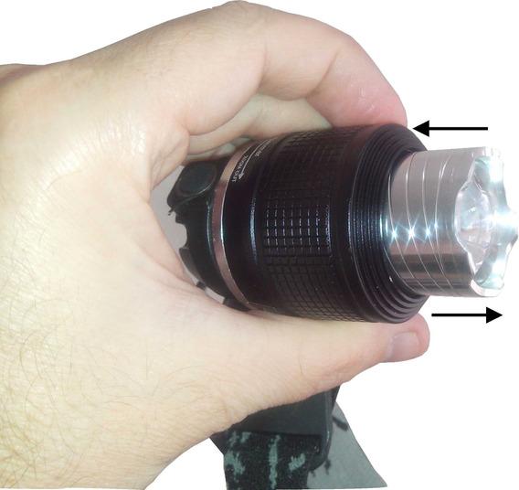 Lanterna De Cabeça Led T6 Recarregavel Pesca Camping Caça