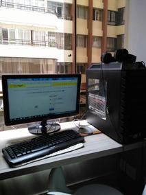 Computador Desktop Torre Preto Com Placa Gráfica