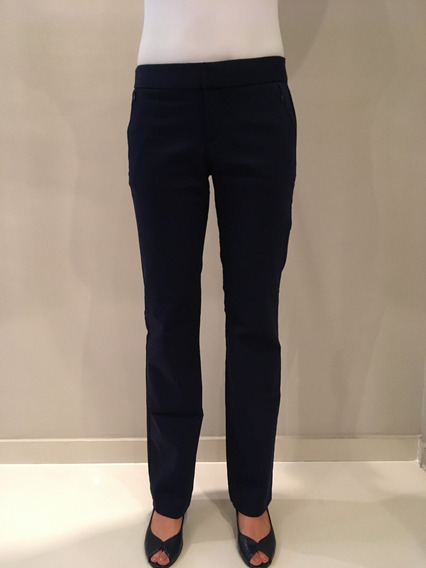 Calça Social Fem Azul Marinho Pouco Usada Calvin Klein
