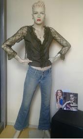 Calça Dinz Jeans Marca Levanta Bubum Famosa Olium