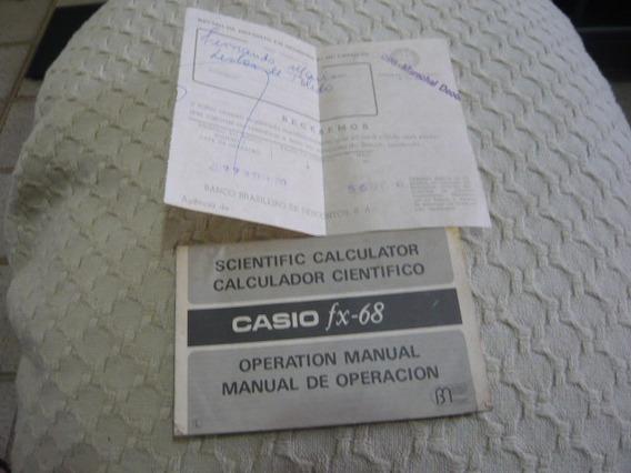 Manual Científica Calculadora Casio Fx-68