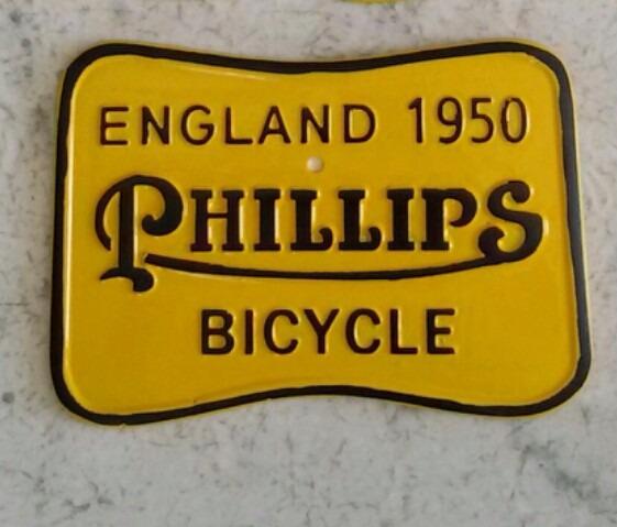 Placa De Licenciamento Bicicleta Antiga Phillips