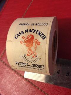 Antiguo Rollo Promocional De Fábrica Boletos Casa Mackenzie