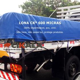 Lona Ck 600 Micras Grossa Pvc 100% Impermeavel 3x3 Mts