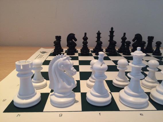 Jogo Xadrez Oficial Plástico Rei 10,5 - Sem Feltro - Maciças