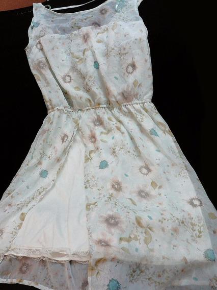 Vestido De Gasa. Importado Pull & Bear!! Nuevo!!! (158)