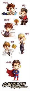 Plancha De Stickers De K-pop Super Junior Donghae Siwon