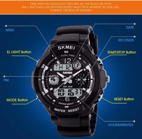 Relógio Masculino Sport Skmei S-shock Analog Digital
