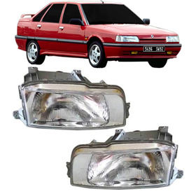 Par Farol Renault 21 Ano 90 1991 1992 1993 1994 1995 Cromado
