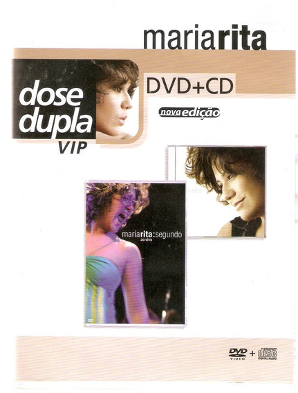 Kit Dvd + Cd Maria Rita - Segundo Serie Dose Dupla Vip