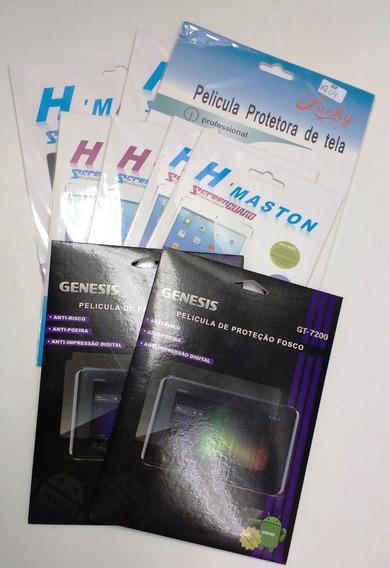 Kit Pelicula Simples Para Tablet Com 9 Unidades