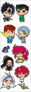 Plancha De Stickers De Anime Yu Yu Hakusho Kurama Hiei