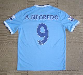 Camisa Original Manchester City 2013/2014 Home #9 A. Negredo