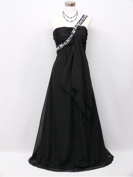Elegante Vestido Negro Talla Grande 48- 50