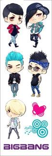 Plancha De Stickers De K-pop Big Bang Taeyang G-dragon Top