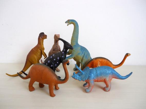 Lote (05) Miniatura De Dinossauros Kit 7 Peças ! !