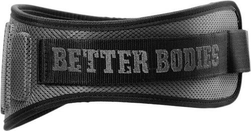 Pro Lifting Belt Better Bodies Cinturón Pesas Negro Y Gris