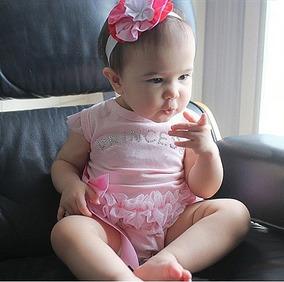 Body Bebê Menina Manga Curta Princess Com Tule
