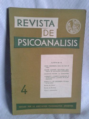 Imagen 1 de 2 de Revista De Psicoanalisis Oct Dic 1963 Tomo Xx Nº4