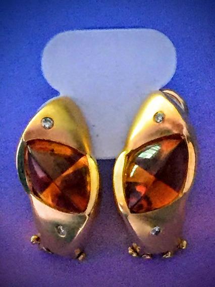 Brinco Em Ouro 18 K 750-8.7gr. C/brilhantes