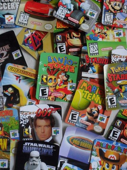 10 Labels Nintendo 64 - Etiquetas Qualidade 100% !