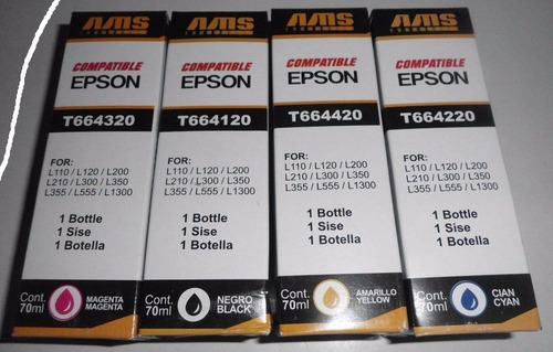 Botella De Tintas Genericas Ams Epson 70ml