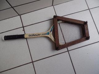 Antiga Raquete De Tenis Donnay Madeira Feminina