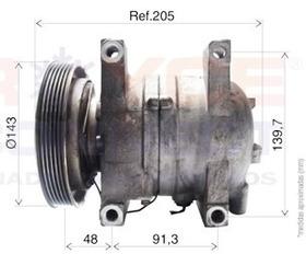 Compressor Nissan Frontier Mwm Xterra 2.8 Diesel Sem Juros