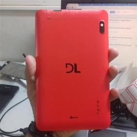 Tampa Traseira Tablet Dl E Color Plus Tp 257 Vermelha Nova