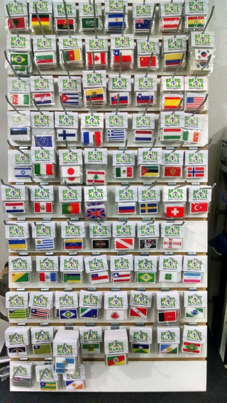 Adesivos Resinado 5 Pçs Bandeira Do Br , Países E Est.