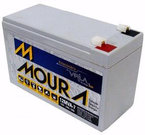Bateria Moura Vrla - 12v E 7ah Para Nobreak, Alarme