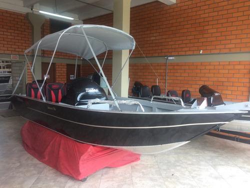 Imagem 1 de 8 de Lancha Fortboat Advance 550 Básica Com Motor 60 Hp 4 T Mer