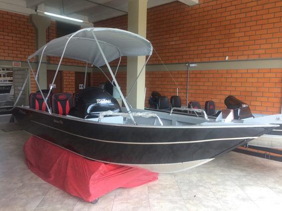 Lancha Fortboat Advance 550 Completa Com Motor 60 Hp 4t Merc