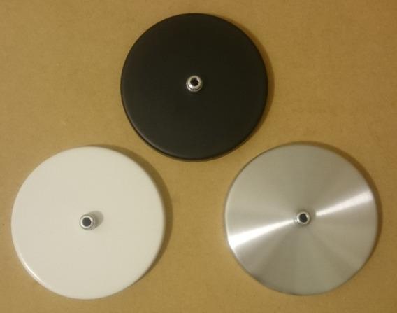 Kit 3 Canoplas Alumínio Preta, Branca, Prata P/ Luminárias