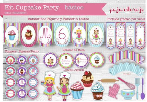 Kit Cumpleaños Cupcake Party
