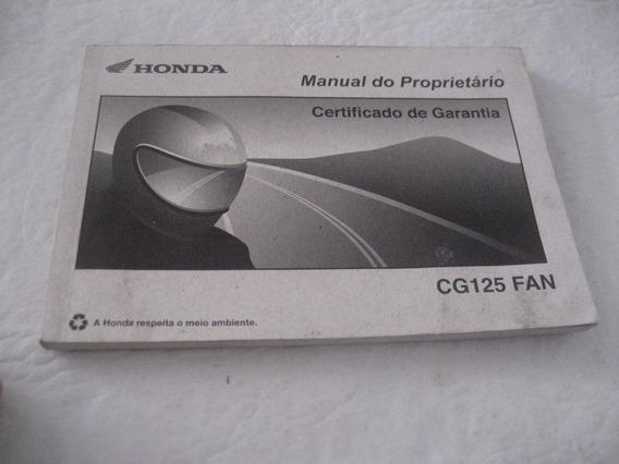 Manual Do Proprietario Da Moto Honda Cg125 Fan 2007