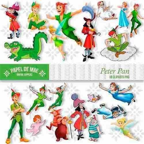 Kit Digital Peter Pan Clipart Imagens Png R 7 99 Em Mercado Livre