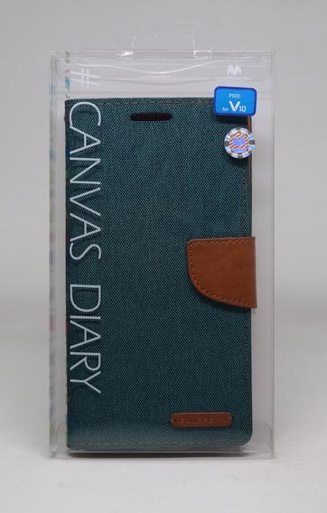 Funda LG V10 Mercury Goospery Canvas Diary Verde