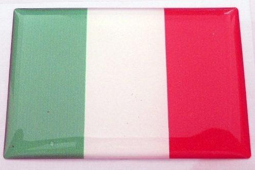 Kit Bandeiras Resinadas Brasil E Italia