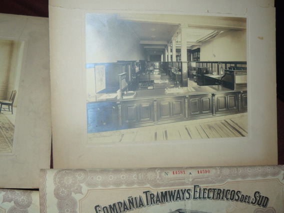 Fotografia Admiistr Compañia Tramways Electricos Del Sud