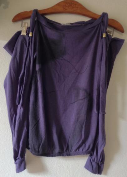 Blusa Decote Ombros De Fora Roxa M