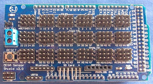 Imagen 1 de 4 de Arduino Shield Sensor Mega Pic Master Atmel Avr