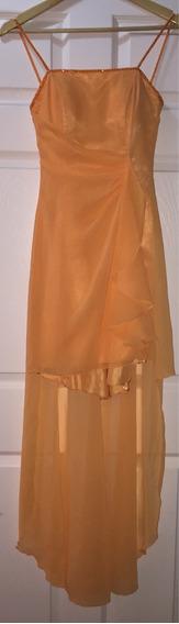 Vestido Gala Chifon Descote Espalda Boda Graduación