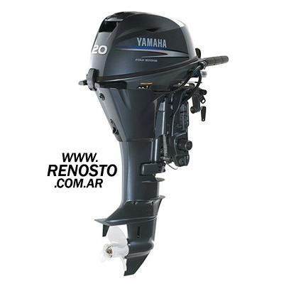 Imagen 1 de 3 de Motores Yamaha 20hp 4t Arranque Manual Pata Larga Renosto