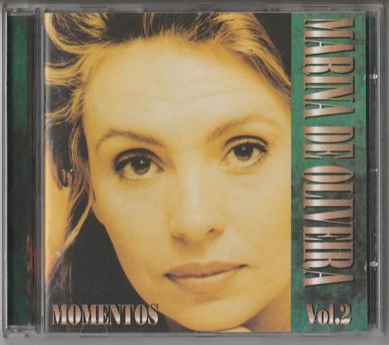 Marina De Oliveira - Cd Momentos Vol 2 - 1995 - Seminovo