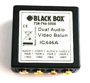 Distribuidor De Sinal De Video Black Box Ic446a